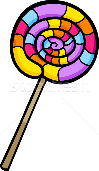 Lollipop clipart cartoon illustration sweet design Photo stock © izakowski