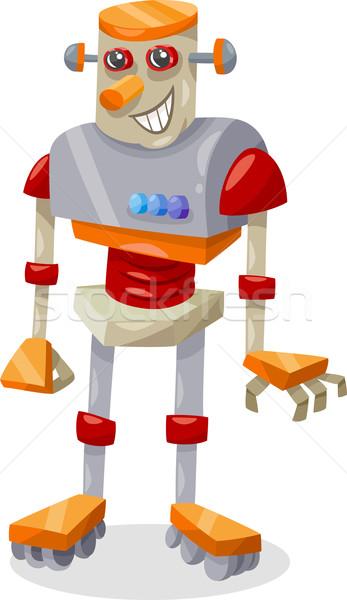 fantasy robot cartoon illustration Stock photo © izakowski