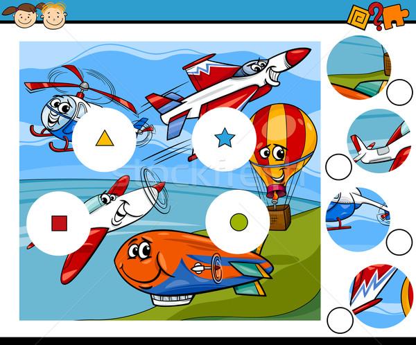 match pieces game cartoon Stock photo © izakowski