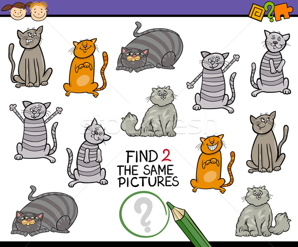 find same picture cartoon game Stock photo © izakowski