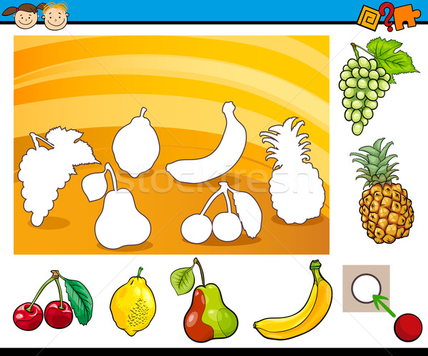 cartoon educational task for children Stock photo © izakowski