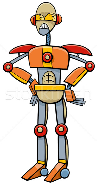 robot or cyborg cartoon illustration Stock photo © izakowski