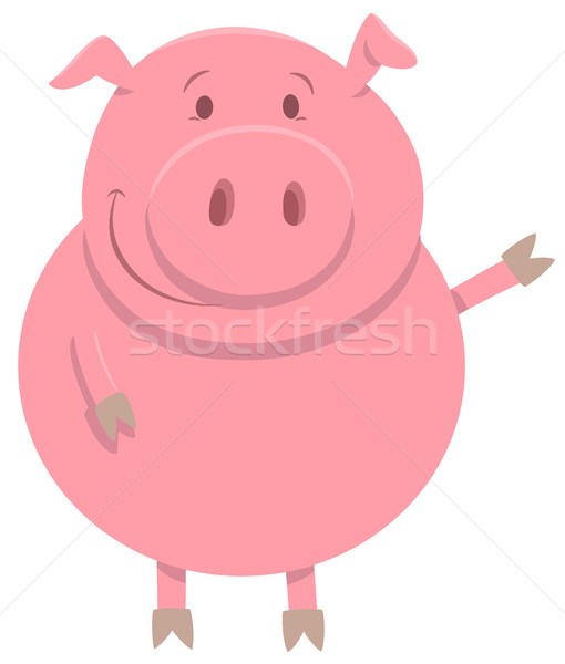 happy pig farm animal character Stock photo © izakowski