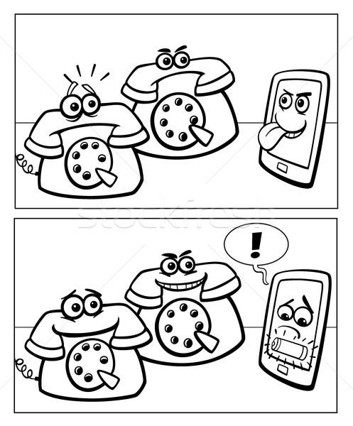 phones and smart phone comics Stock photo © izakowski