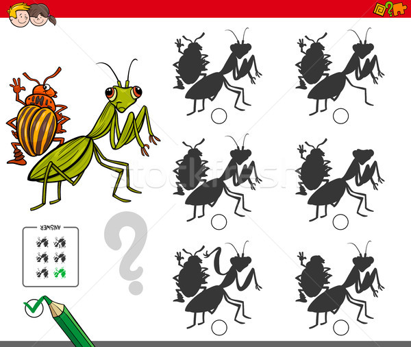 shadow activity game with bug characters Stock photo © izakowski