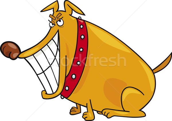 Bad cane cartoon illustrazione felice disegno Foto d'archivio © izakowski