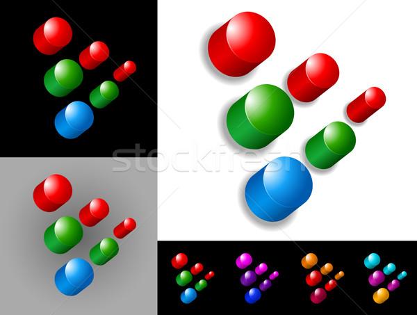 抽象的な グラフィックデザイン 3D アイコン シンボル 背景 ストックフォト © izakowski