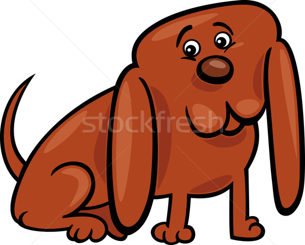 funny little dog cartoon illustration Stock photo © izakowski