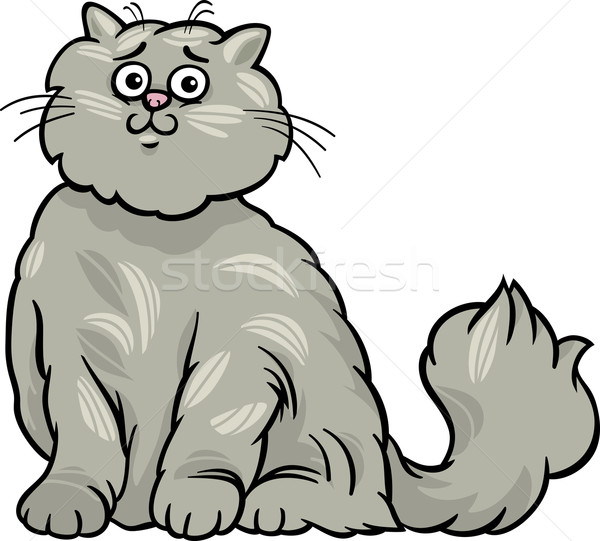 persian cat cartoon illustration Stock photo © izakowski