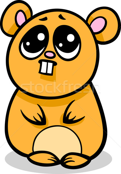 Cartoon kawaii hamster illustration style cute Photo stock © izakowski