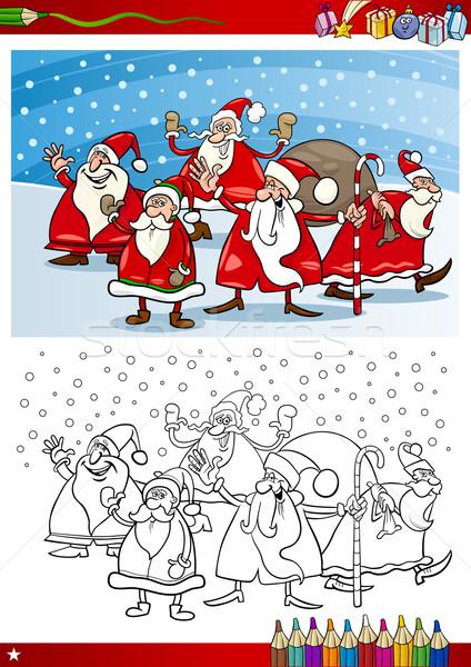 サンタクロース グループ 塗り絵の本 漫画 実例 ストックフォト © izakowski