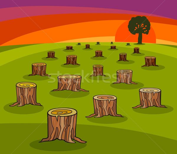 environmental protection cartoon Stock photo © izakowski