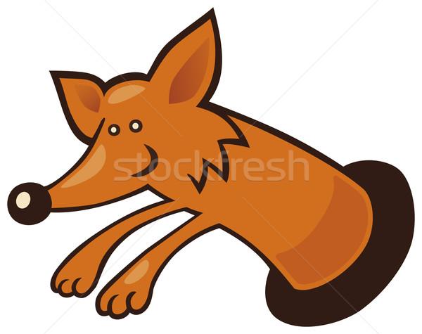 Fox in burrow Stock photo © izakowski