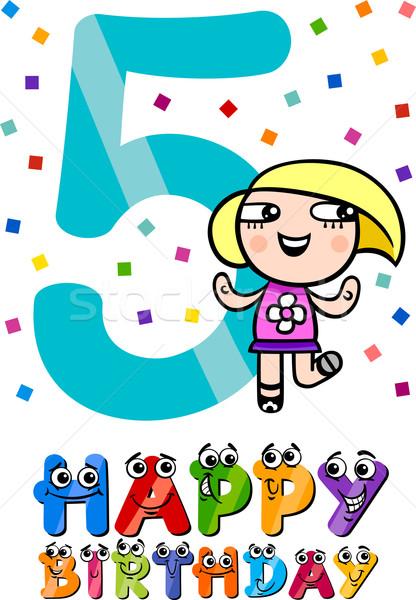 fifth birthday cartoon design Stock photo © izakowski