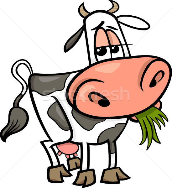 cow farm animal cartoon illustration Stock photo © izakowski