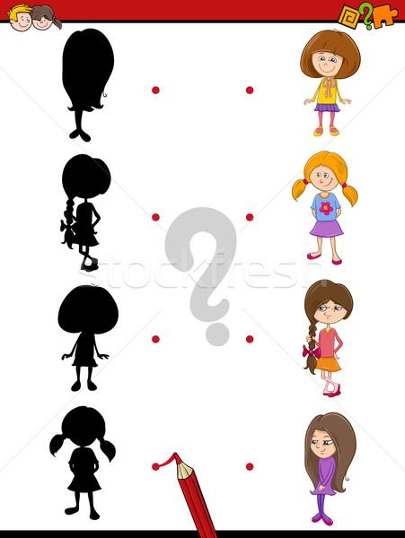 preschool shadow game with kids Stock photo © izakowski