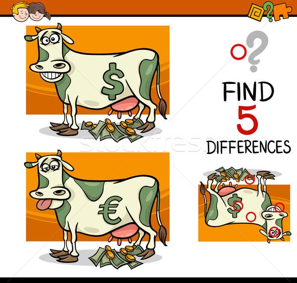 Diferenças atividade crianças desenho animado ilustração Foto stock © izakowski