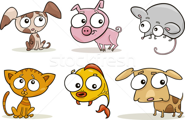 Cute piccolo animali cartoon illustrazione set Foto d'archivio © izakowski