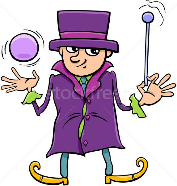 wizard or elf character cartoon Stock photo © izakowski