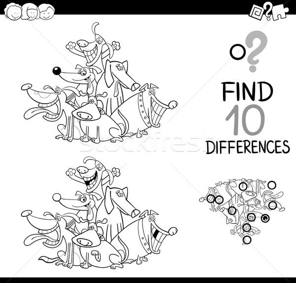 Educativo juego blanco negro Cartoon ilustración Foto stock © izakowski