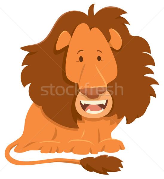 lion cartoon animal character Stock photo © izakowski