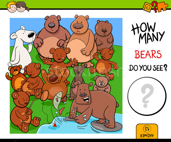 counting bears educational activity game Stock photo © izakowski