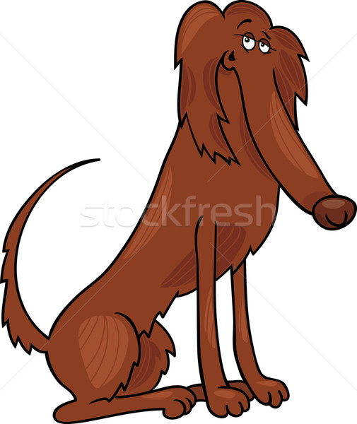irish setter dog cartoon illustration Stock photo © izakowski