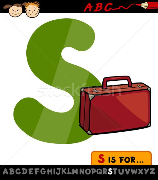 letter s with suitcase cartoon illustration Stock photo © izakowski