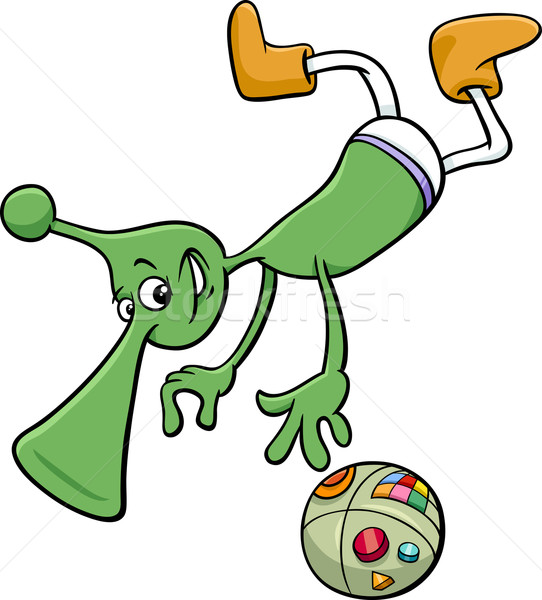 alien character cartoon illustration Stock photo © izakowski
