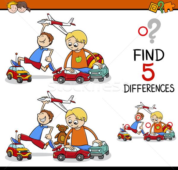 find the differences activity Stock photo © izakowski