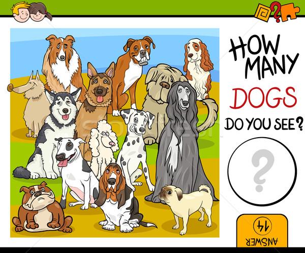 игры собаки Cartoon иллюстрация образовательный детей Сток-фото © izakowski
