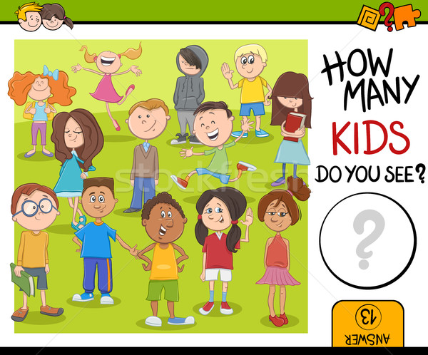 how many kids activity game Stock photo © izakowski