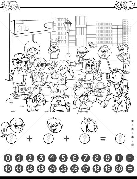 maths game coloring book Stock photo © izakowski