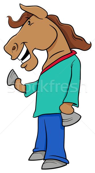 horse character cartoon Stock photo © izakowski