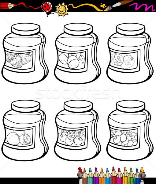 Ayarlamak Karikatür Boyama Kitabı Sayfa örnek