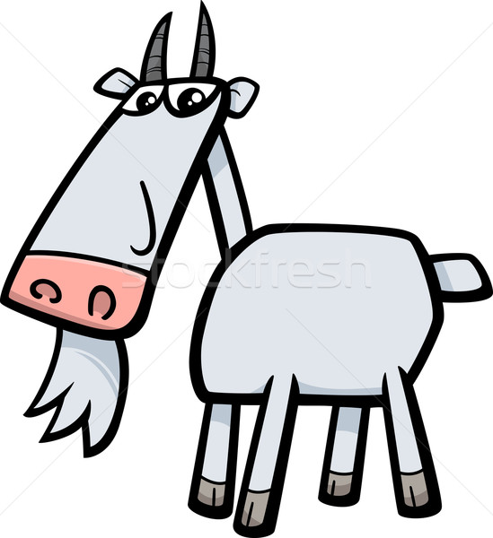 goat farm animal illustration Stock photo © izakowski