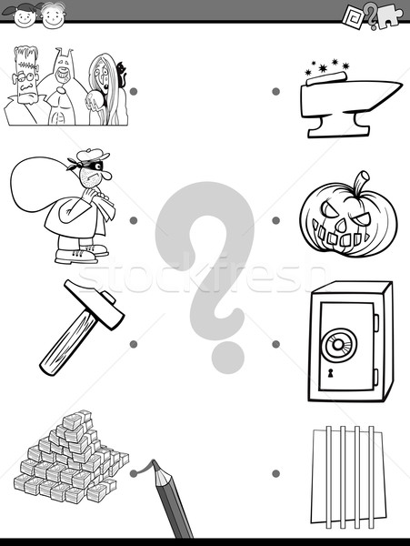 match elements coloring page Stock photo © izakowski