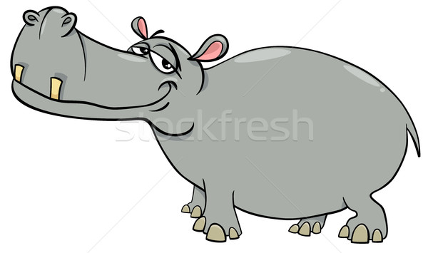hippopotamus cartoon character Stock photo © izakowski