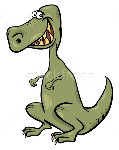 cartoon illustration of dinosaur character Stock photo © izakowski