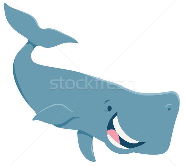 Rajz bálna állat karakter illusztráció boldog Stock fotó © izakowski
