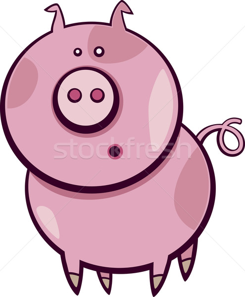 cartoon pig Stock photo © izakowski