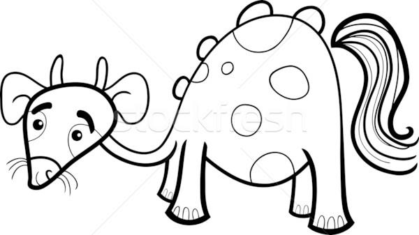 Cartoon fantasía criatura ilustración funny cuento de hadas Foto stock © izakowski