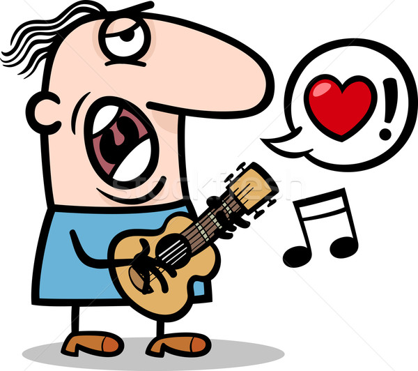 man singing love song for valentines day Stock photo © izakowski