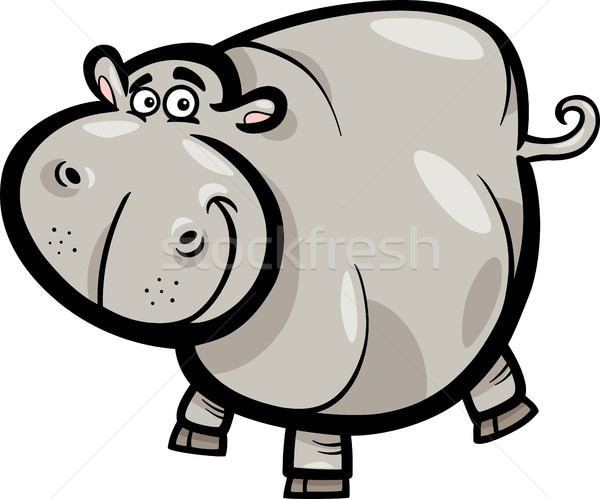 Hippo or Hippopotamus Cartoon Character Stock photo © izakowski