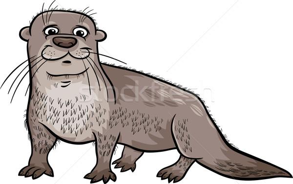 otter animal cartoon illustration Stock photo © izakowski