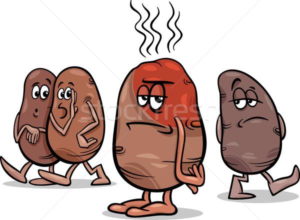 hot potato saying cartoon Stock photo © izakowski