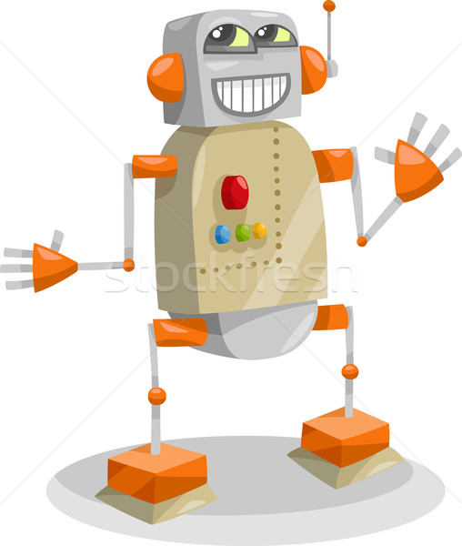 fantasy robot cartoon illustration Stock photo © izakowski