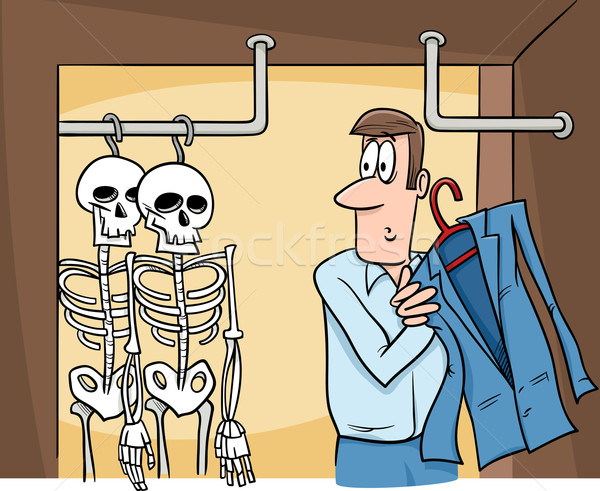 skeletons in the closet cartoon Stock photo © izakowski
