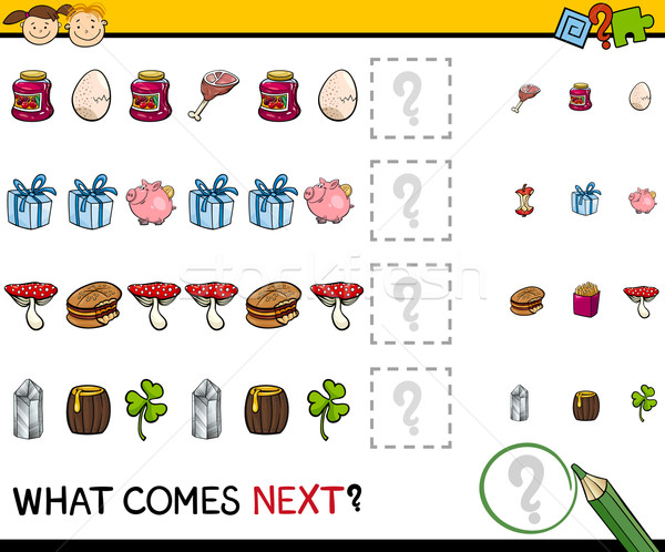 preschool educational pattern task Stock photo © izakowski
