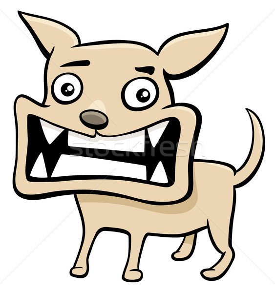 angry puppy cartoon illustration Stock photo © izakowski